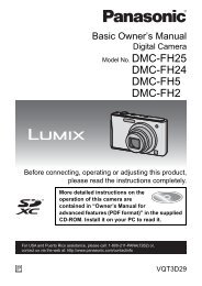 DMC-FH24 DMC-FH5 DMC-FH2 - Operating Manuals for Panasonic ...