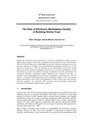 The Role of Electronic Marketplace Quality in Building Online Trust