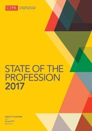 STATE OF THE PROFESSION 2017