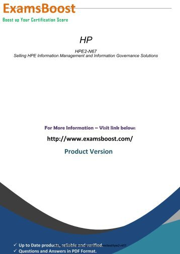 HPE2-N67 Score Guides