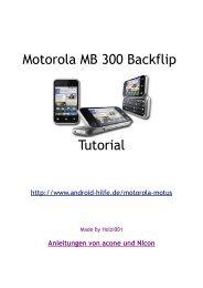 Motorola MB 300 Backflip Tutorial - Android-Hilfe.de