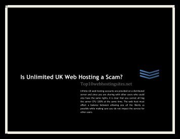 Is Unlimited UK Web Hosting a Scam