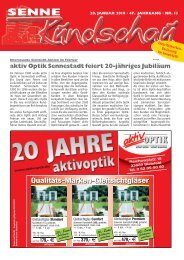 aktiv Optik Sennestadt feiert 20-jähriges Jubiläum - Senne Rundschau