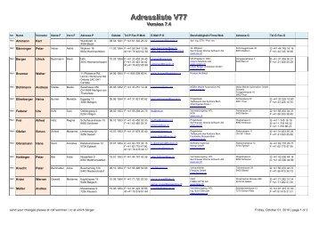 Adressliste V77