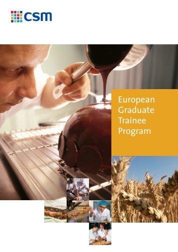 European Graduate Trainee Program - CSM nv