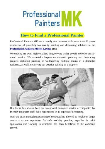 How to Find a Professional Painter
