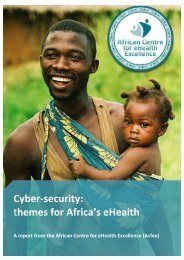 Cyber-security themes for Africa's eHealth