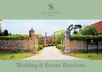 Wedding & Events Brochure