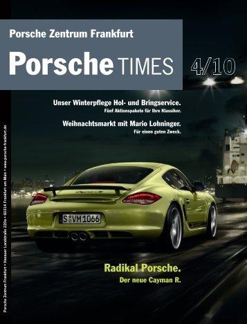Radikal Porsche. Der neue Cayman R. Unser Winterpflege Hol