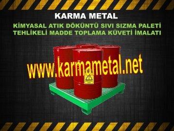 Döküntü toplama paletleri Tehlikeli kimyasal toplama küveti taban tavasi KARMA METAL