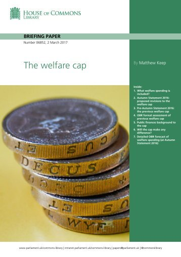 The welfare cap