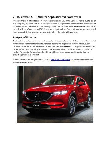 2017 Mazda CX-5 - Review Catalog