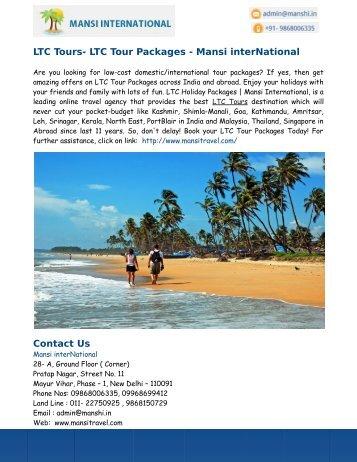 LTC Tours- LTC Tour Packages - Mansi interNational