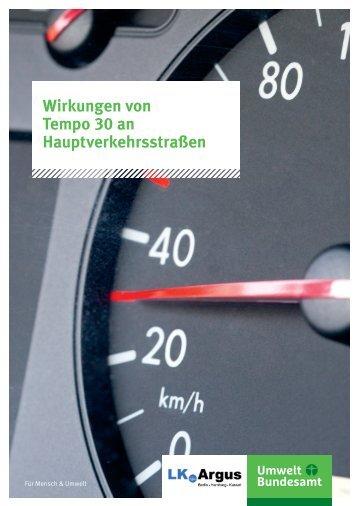 Wirkungen von Tempo 30 an Hauptverkehrsstraßen