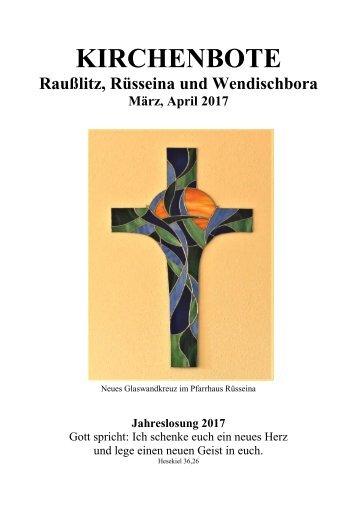 Kirchenbote März, April 2017