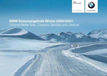 BMW Saisonangebote Winter 2006/2007 ... - BMW Unterberger