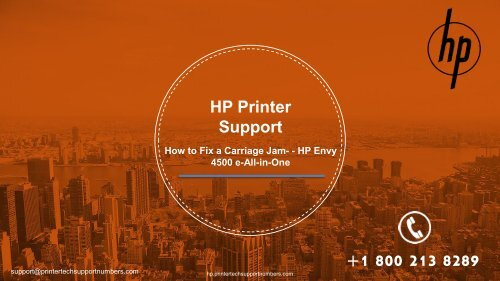 Fixing a Carriage Jam - HP Envy 4500 e-All-in-One Printer