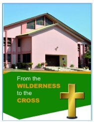 From The Wilderness To The Cross