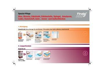 Spezial-Pflege Glas, Nirosta, Edelstahl, Edelmetalle, Spiegel - Finalit