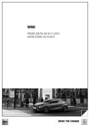 PREISE GÃœLTIG AB 16.07.2012 DATEN STAND 16.07 ... - Renault