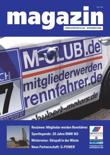 M-Club Magazin 3/2006 - BMW M Drivers Club eV