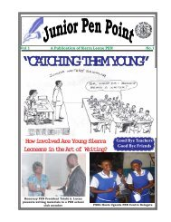 Sierra Leone Junior PENPoint Magazine - Pen International
