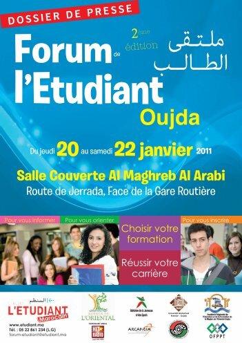 dossier de presse Oujda 2011.indd - Etudiant Marocain