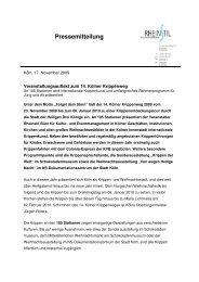 Pressemitteilung - Kölner Krippenweg