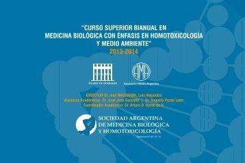 Curso Superior Bianual de Medicina  Biológica con ... - SAMB y H.