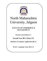 S.Y. BCA(sem IV) - North Maharashtra University