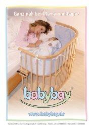 Ganz nah bei Mama und Papa ! www.babybay.de - Wallenfels