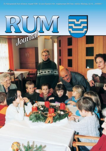 Rum Journal 2003/4 - Marktgemeinde Rum - Land Tirol