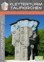 Kursprogramm Sommer 2012 - Kletterturm Taufkirchen