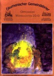 Ökumenischer Gemeindebrief Advent 2010 - Evangelische ...