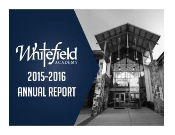 Whitefield 2015-2016 Annual Report