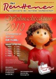 Reuttener November 2010 - Kaufmannschaft Reutte