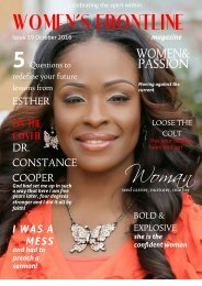 WOMEN'S FRONTLINE MAGAZINE ISSUE 18 Cover Issue 18 October 2016