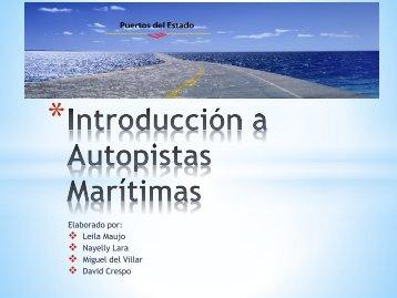 Autopistas marítimas introducción