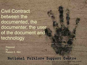 Civil Contract between the documented, the documenter, the user of ...