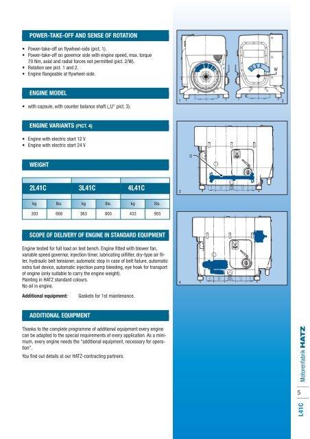 Motorenfabrik HATZ 4 L41C on
