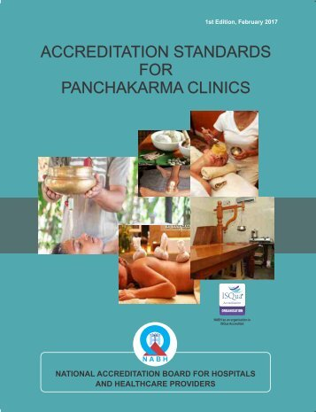 ACCREDITATION STANDARDS FOR PANCHAKARMA CLINICS