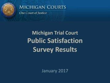 Public Satisfaction Survey Results