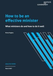 How to be an effective minister