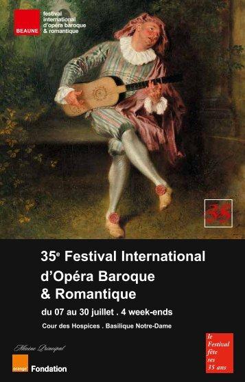 35 Festival International d'Opéra Baroque & Romantique