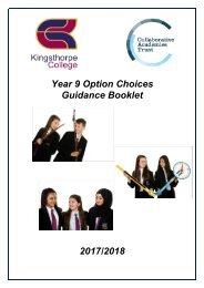 Year 9 Option Choices Guidance Booklet 2017/2018
