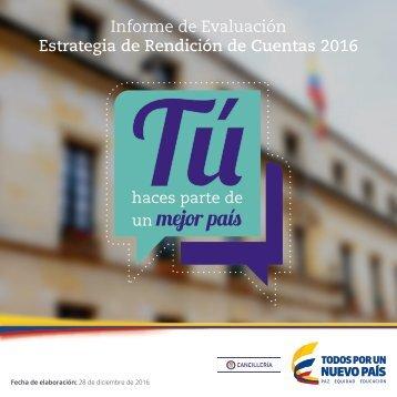 Informe de Evaluación Estrategia de Rendición de Cuentas 2016
