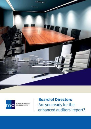 Board of Directors - Are you ready for the enhanced auditors' report?