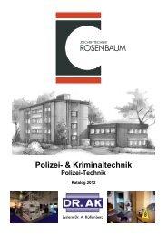 Polizei- & Kriminaltechnik - zeichentechnik h. rosenbaum