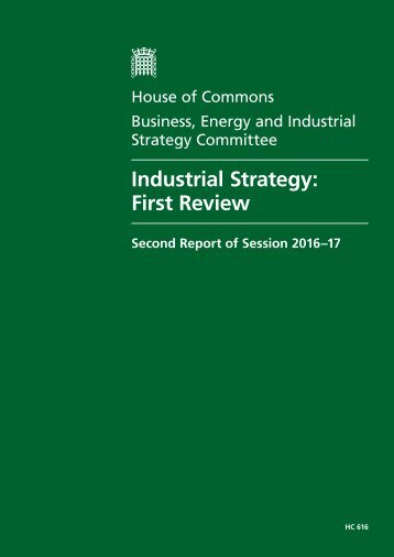 Industrial Strategy First Review