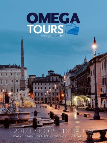 Omega Tours 2017 Escorted Tours